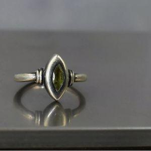 925 Silver w/ natural stone size 7          E12